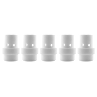 Gas Diffuser MIG  - MB26 - Long Life - White Ceramic - 5 Pack - Binzel Style