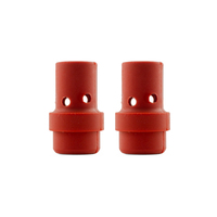Binzel Style MIG Gas Diffuser MB36 - Red Silicone - 2 Each