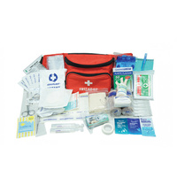 30 Piece Personal First Aid Bum Bag Kit with Waist Belt -