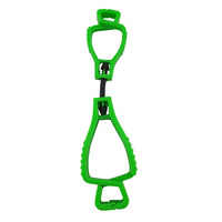 Neon Green Glove Clip - Interlock Design