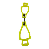 Neon Yellow Glove Clip - Interlock Design