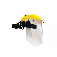 Brow Guard with 1mm Clear Lens Shield - Head and Face Protection
