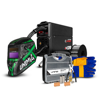 Unimig Viper 120 Synergic Kit - Includes Welding Helmet & Consumable
