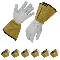 TEGERA 126A Swedish TIG Gloves - Goat Skin - Size Medium - 6 Pack