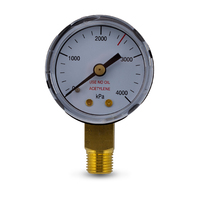 High Pressure Gauge 4000KPA for Acetylene Regulator