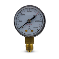 High Pressure Gauge 30000KPA for Argon Regulator
