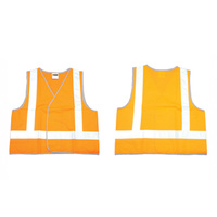 10 x Hi Viz Day and Night Orange Safety Vest - Size Large