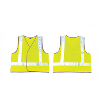 10 x Hi Viz Day and Night Yellow Safety Vest - Size Medium