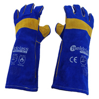 Promax Blue Mig Welding Gloves - 1 Pair - 40cm Long