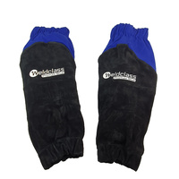 Weldclass PROMAX Blue Flame Retardant Leather Welding Sleeves