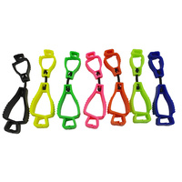 10 x Glove Clips BULK PACK - Various Colours - Interlock Design Clip