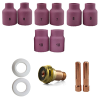 2.4mm TIG Gas Lens Collet Body STUBBY KIT WP17|18|26