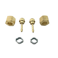 3/8 BSP Regulator Brass Barb fittings for 3mm ID hose Smith little torch