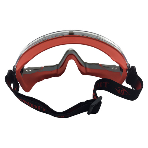 12 x Fire Rated & High Temp Safety Goggles - Frontline - Red Clear Lens