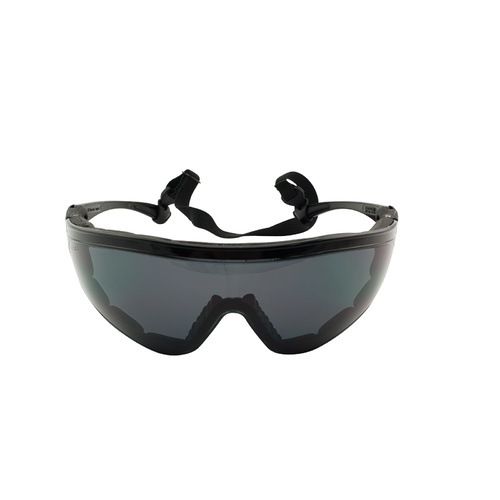 Positive Seal Safety Glasses - Slingshot - Black with Smoke Anti Fog Lens