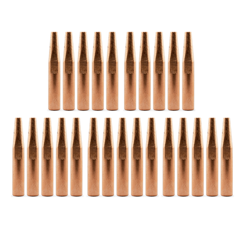 Bernard Style Conical MIG Contact Tips 0.9mm - 25 pack - Long 51mm